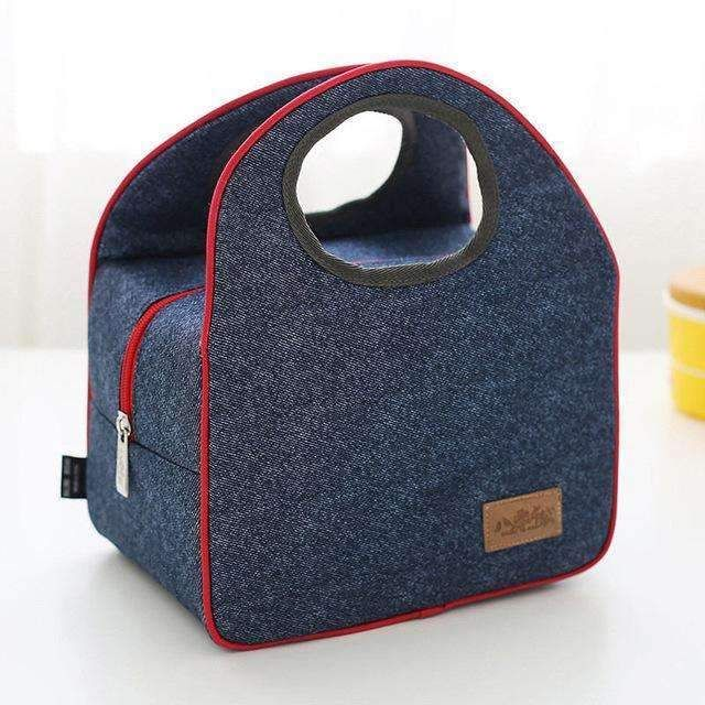 Portable Oxford Travel Picnic Storage Bag Outdoor Insulated Thermal Lunch Bag Food Organizer Tote Shoulder Bag