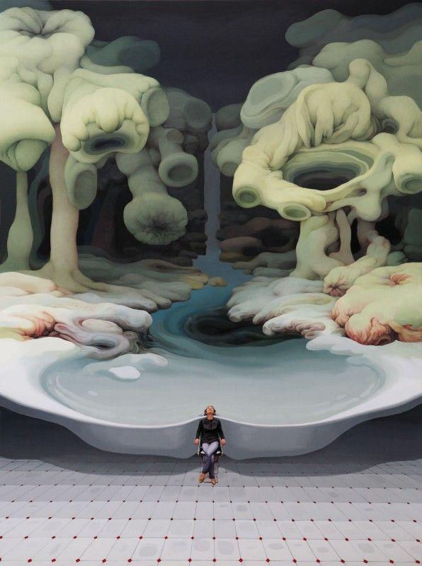 Des peintures suréalistes damas organiques peinture organique forme 01 596x800
