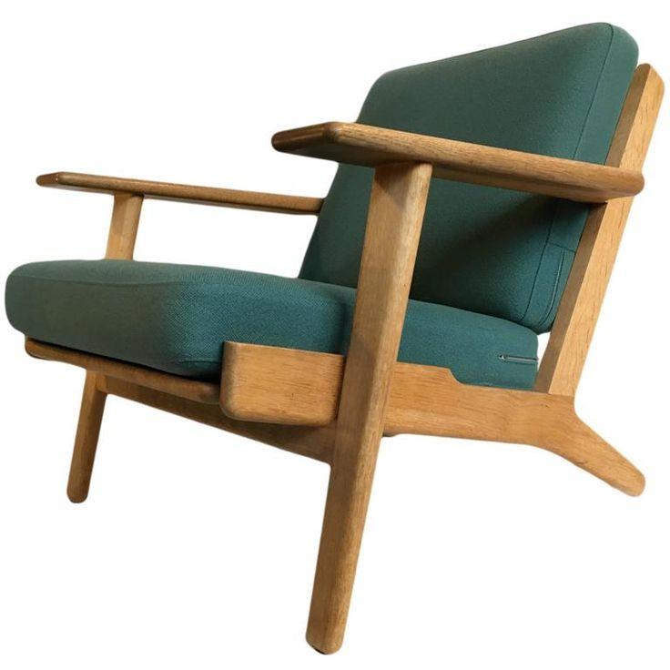 Original 1960's Hans J Wegner, GE290 Oak Armchair 1