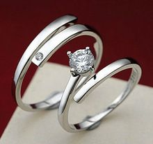 Nova marca 925 anéis de cristal para mulheres bijoux moda jóias anel masculino anéis para amantes(China (Mainland))