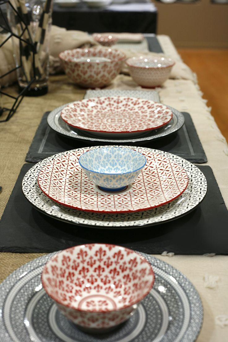 Boho Dinnerware.  New Trend Plates and Bowls.  Discover more at www.espiel.gr