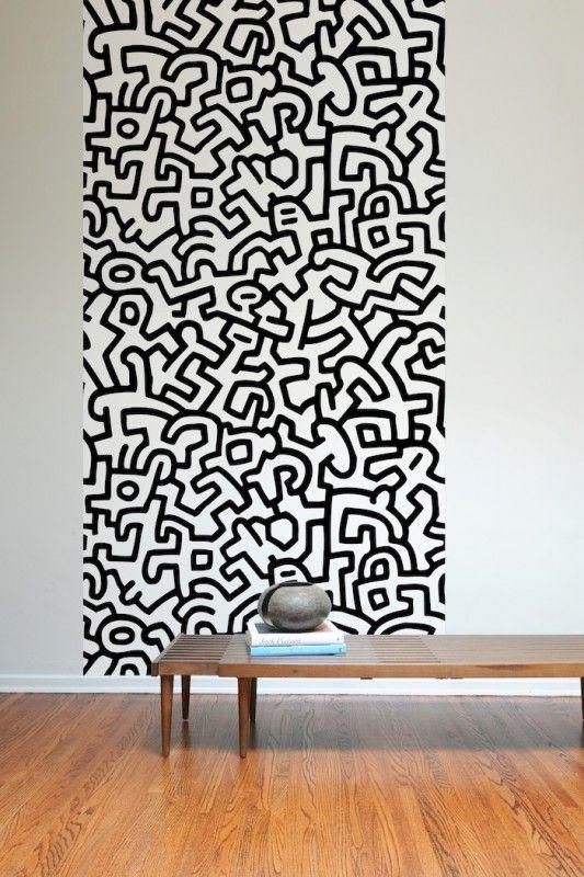 Carta da parati Keith Haring