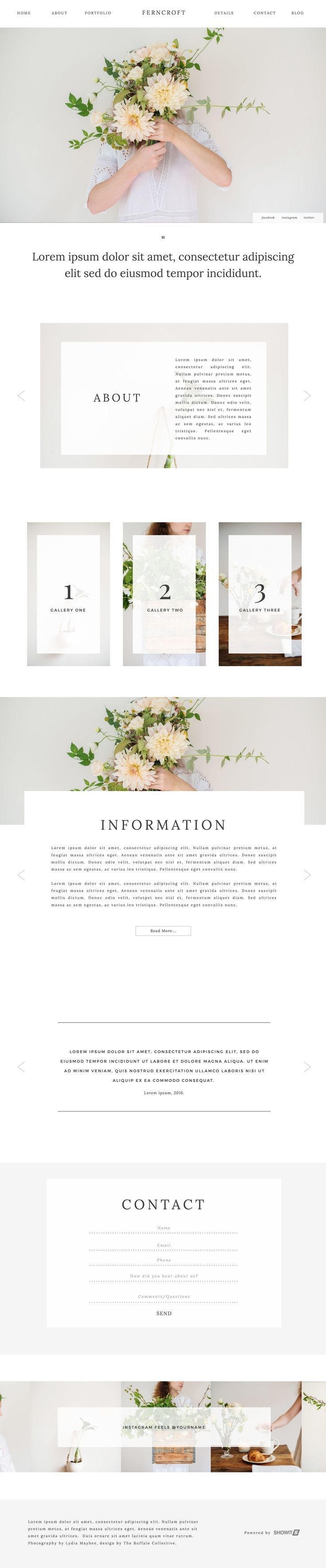 Ferncroft - Showit Free Photography Website Template