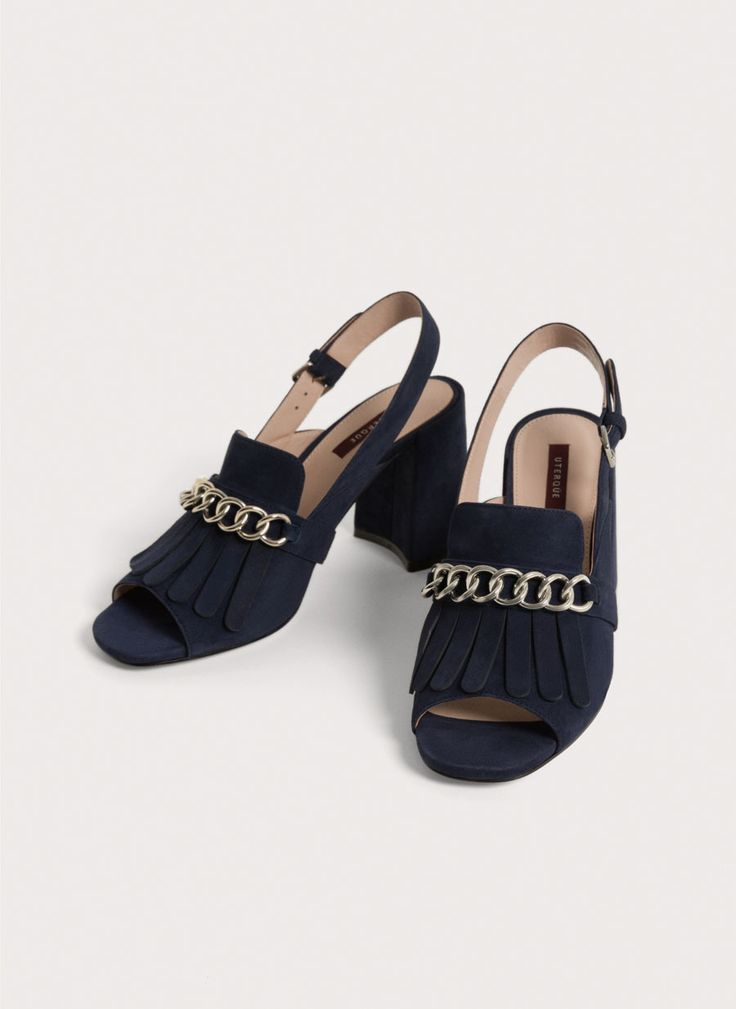 Uterqüe Sweden Product Page - Footwear - View all - Suede sandals with fringe - 950