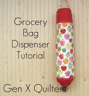 Grocery Bag Holder-- forgot about these, totally making one when I get my sewing machine back! Been saving up bags for kitty litter cleaning, once my cats come down here... but it's such an eye sore of a mess in our pantry!