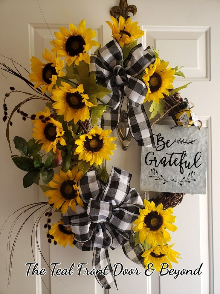 Diy Wreaths For Front Door Ribbon
