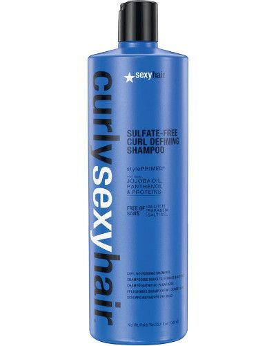 Curly Sexy Hair Sulfate-Free Curl Defining Shampoo Liter 33.8 oz