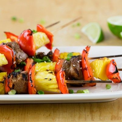 Hawaiian Pork & Pineapple Kabobs