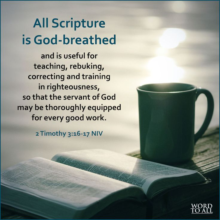 All Scripture is God-breathed and is useful for teaching, rebuking, correcting and training in righteousness, so that the servant of God may be thoroughly equipped for every good work. - 2 Timothy 3:16-17 NIV #Bible #live #Jesus #wordtoall