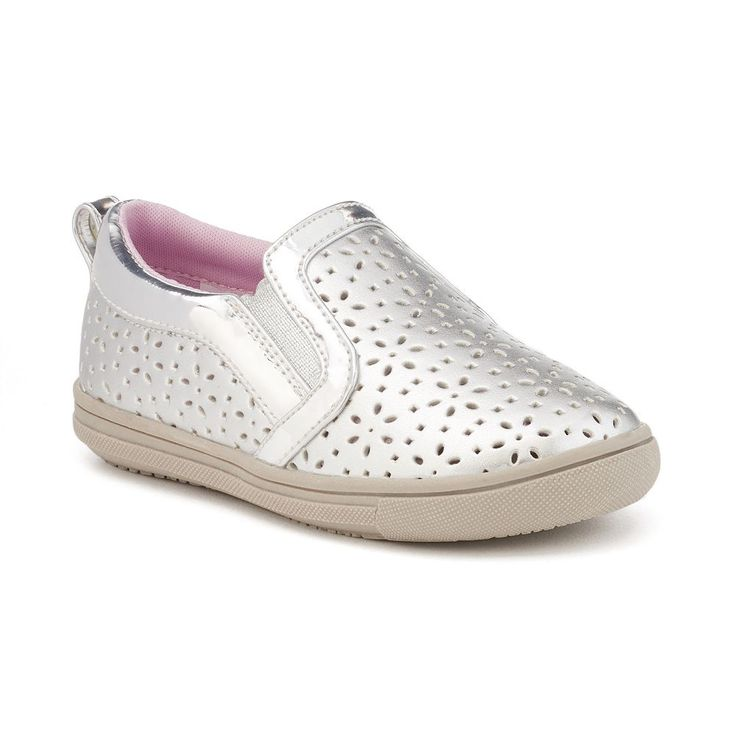 Rachel Shoes Lil Delray Toddler Girls' Slip-On Shoes, Size: 10 T, Silver