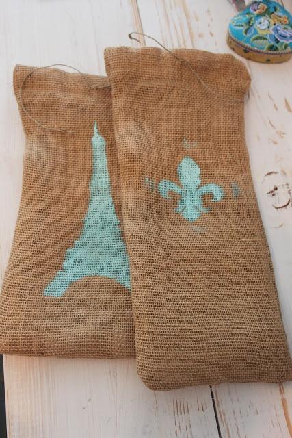 20 best cool diy wine ideas images on pinterest wine for Burlap bag craft ideas