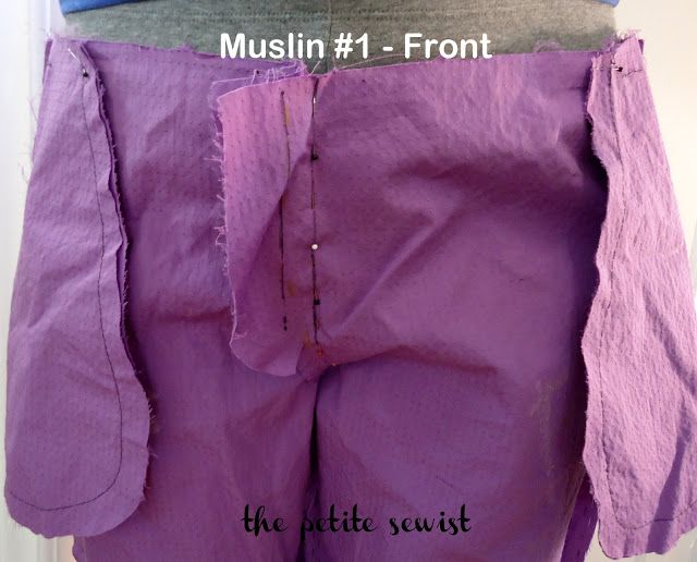 The Petite Sewist: How to Remove Extra Fabric at the Crotch