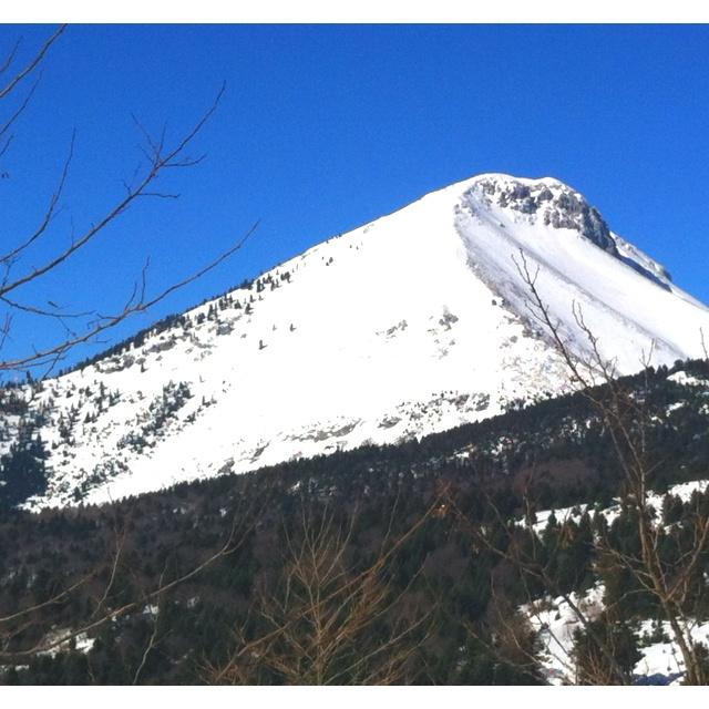 Dirfis mountaintop on Evia island in Greece