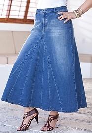 #Love blue jean skirts  jean skirt #2dayslook #jean style #jeanfashionskirt…