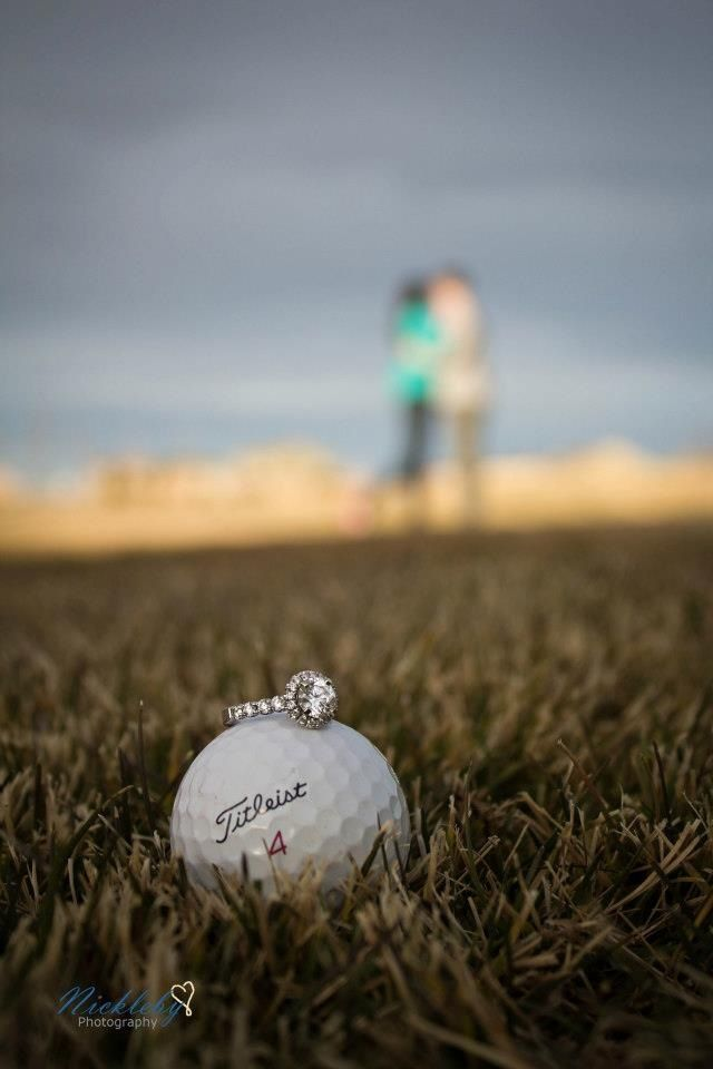 Engagement Photo, Golf Theme! Robert if you see this don't get scared just a cute idea lol