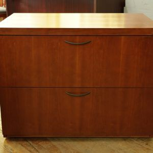 Cherry Wood 2 Drawer Lateral File Cabinet