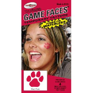 Paw Print Press On Waterless Temporary Tattoos by Cheerleading Company