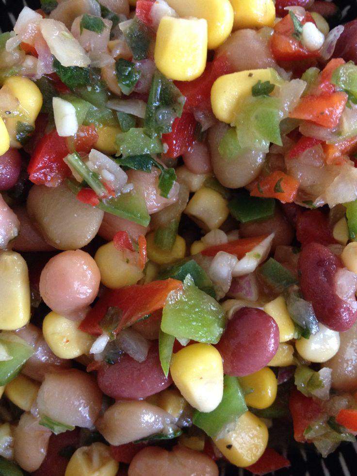 Mexican Bean Salad - super high in fibre!