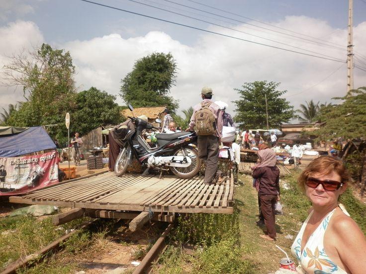 Working Bamboo train-Pursat, Cambodia