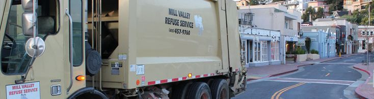 Mill Valley Refuse Service - San Rafael, CA -  Garbage Service Collected weekly Can(s) must be at the street by 6:00 a.m. on your designated pickup day Rates & Pick Up Information Residential rates include the weekly pickup of garbage, recycling and compost cans, plus a limited number of free curbside cleanups (see info on curbside...   http://www.123dumpsterrental.com/dumpster-rentals/california/mill-valley-refuse-service-san-rafael-ca/