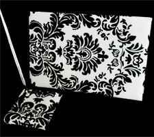 Damask style wedding guest book