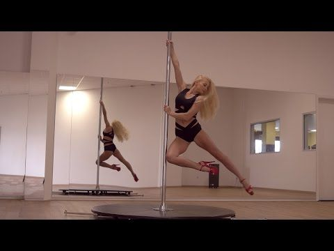 Pole Dance Moves - Beginner Level - Spinning Pole - YouTube