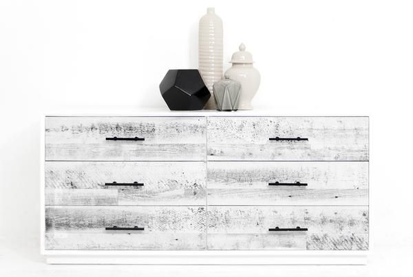 Cody Dresser in White Washed Recycled Wood