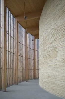 Chapel of Reconciliation, Germany. Designed by architects Rudolf Reiterman and Peter Sassenrath and executed by Austrian rammed earth expert, Martin Rauch.