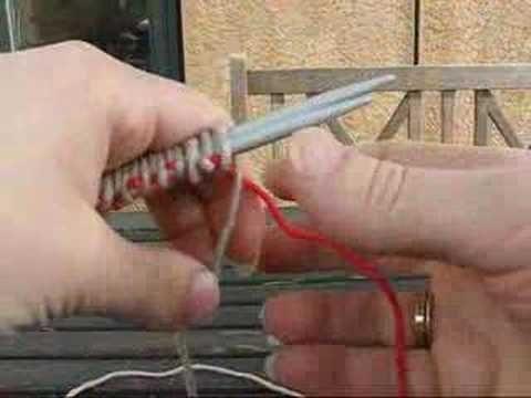 Drejet vrang - Lær at strikke PaaPinden.dk - YouTube