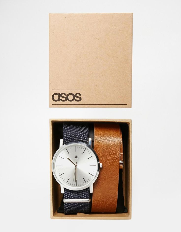 Image 1 ofASOS Watch With Interchangeable Straps