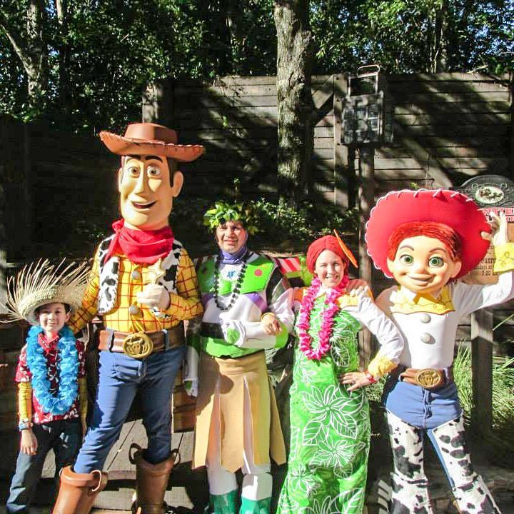 We had so much fun dressing as the Toy Story gang in Hawaiian Vacation for Mickey's Not-So-Scary Halloween Party!