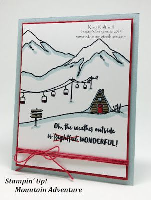 "Great How To Video ""Mountain Adventures"" Stampin Up Stamping to Share 