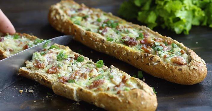 Recept na zapekané bagety s chutnou vajíčkovou plnkou si zamilujete. Zapečené bagetky s vajíčkovým základom, večera, pohostenie pre…