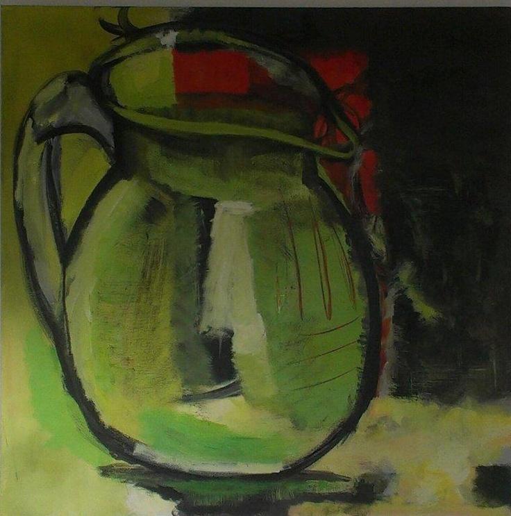 Jug. July, 2012. 70x70. Acrylics on canvas.