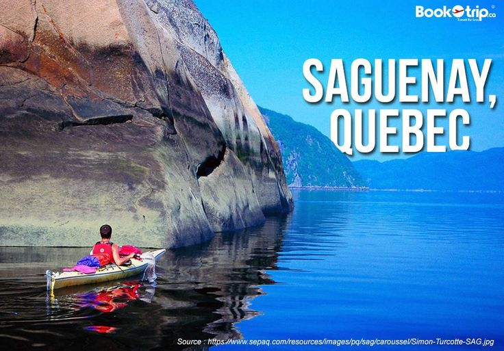 In #Saguenay,Quebec you can do #adventurous things. Fly to this place with #BookOtrip.ca Call us : +1 (888) 379-1003