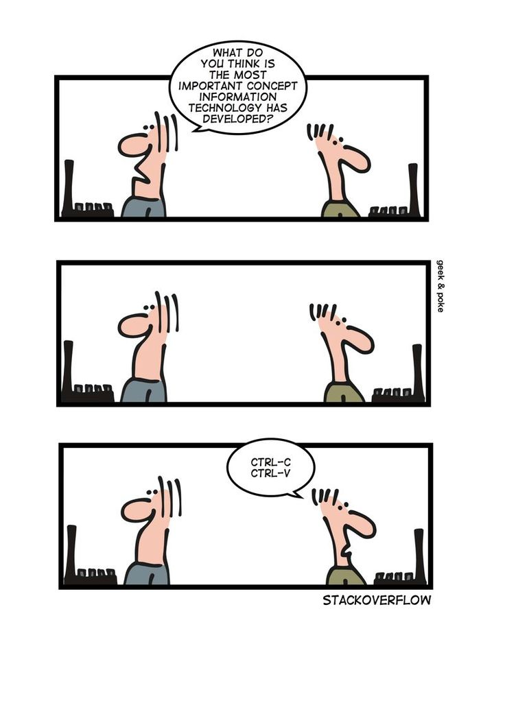 The most important concept of information technology. #funny #comic #writing