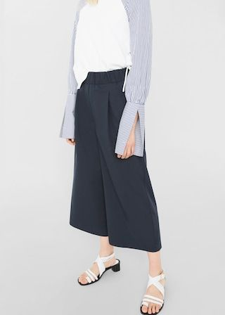 Spodnie palazzo crop | MANGO