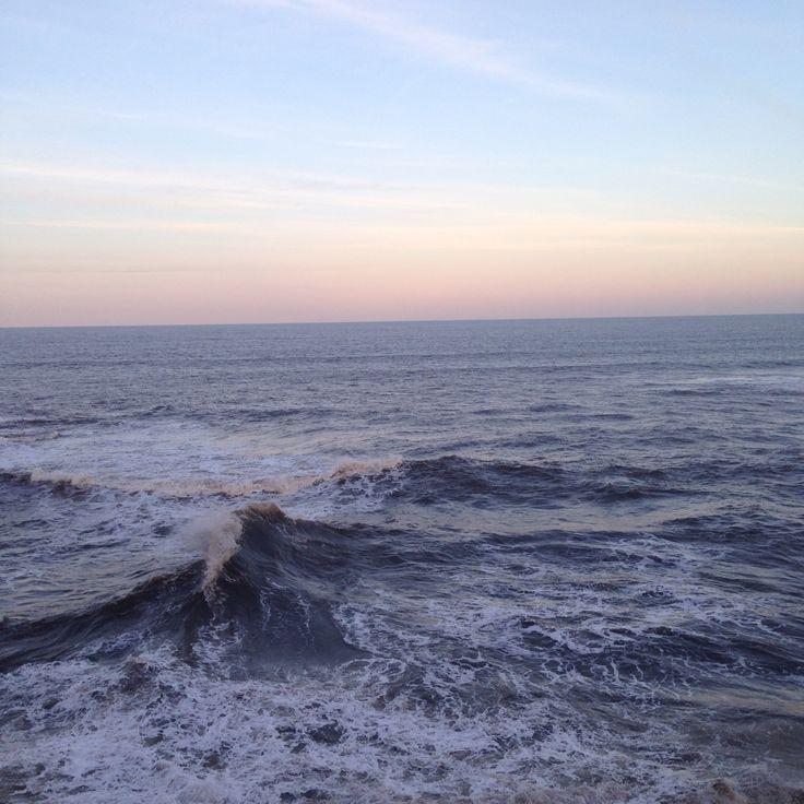 Sea and Winter Sunset