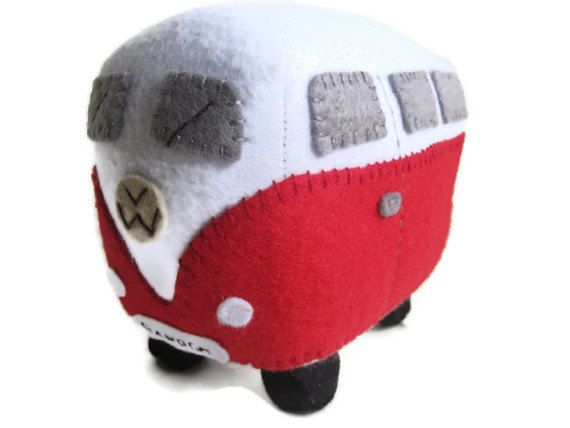 VW Campervan Plush Collectible Toy Personalized by GracesFavours
