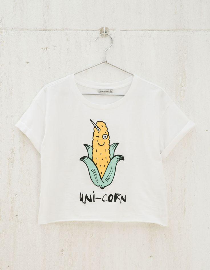 Camiseta BSK 'Unicornio/Mafia' - Estampadas - Bershka España