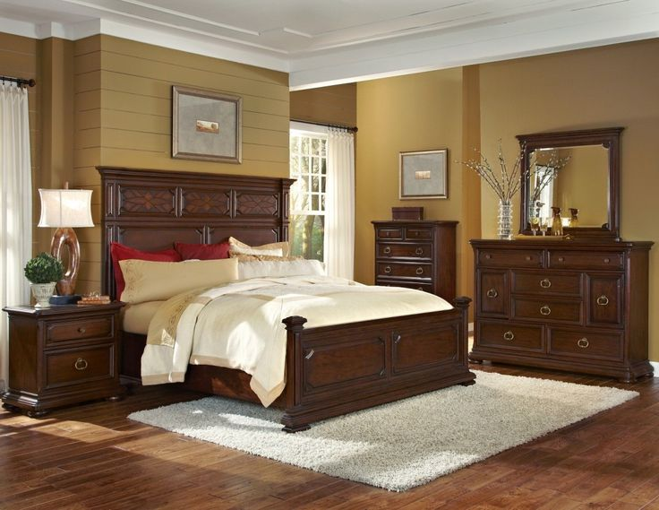 graceful carved brown polished oak wood high headboard for king size bed design be equipped brightly cheap bedroom setsqueen