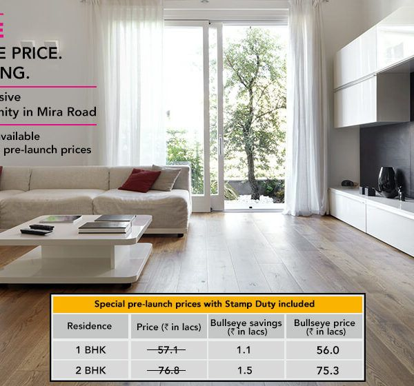 Lodha : Codenantime BULLSEYE at Mira Road, Mumbai, 1 & 2 Bedrooms starting from Rs.56 lakhs