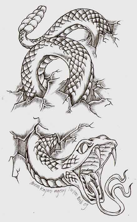 snake by anomkojar.deviantart.com on @DeviantArt | Inspiration for arm tattoo Alex Knight - I'll Be At Your Side