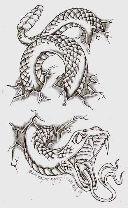 snake by anomkojar.deviantart.com on @DeviantArt | Inspiration for arm tattoo Alex Knight - I'll Be At Your Side
