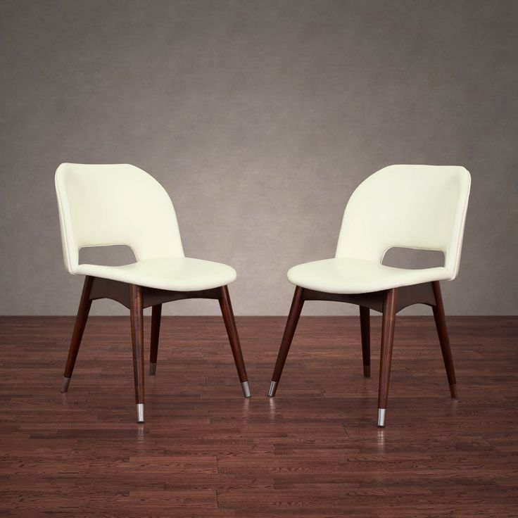 Betty Modern White Leather Dining Chairs (Set of 2) - Overstock Shopping - Great Deals on Dining Chairs