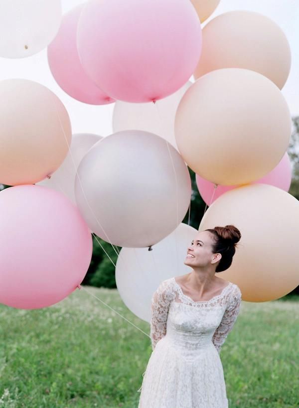 LOTS of large balloons Laura Murray Photography