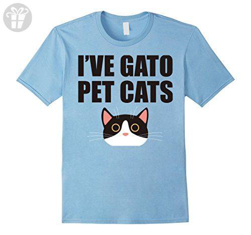 Mens I've Gato Pet Cats Spanish Funny Word Pun Animal Shirt XL Baby Blue - Funny shirts (*Amazon Partner-Link)