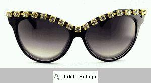 Fantasia Rhinestone Sunglasses - 272 Black