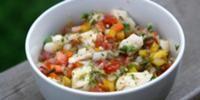 Ceviche de Corvina al Curry