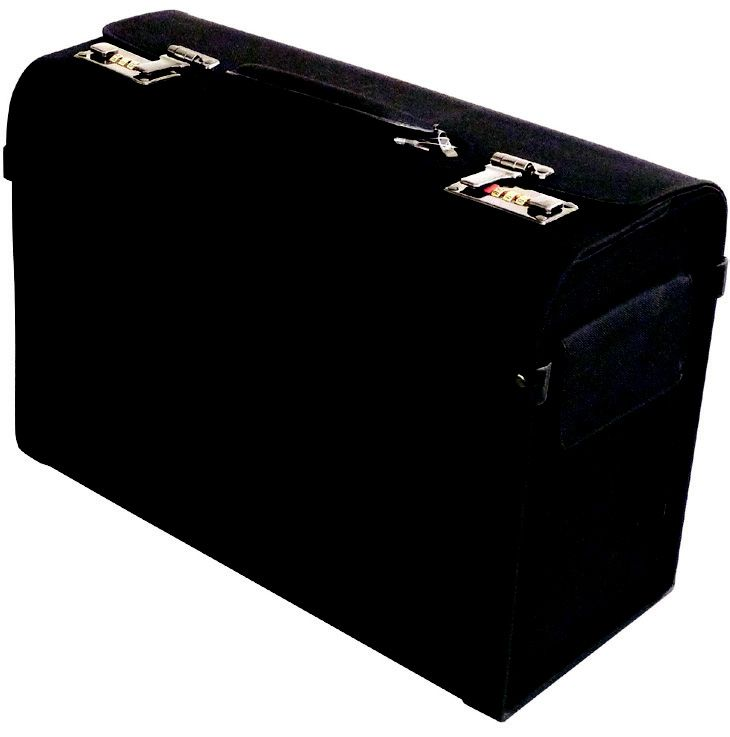 Polyester Pilot Case - R550   Features: Polyester build, One Front pocket, Twin Combination Locks, Carry Handle  Available in black.  #pilotcase #valueformoney #luggage #luggageladies #briefcase #business